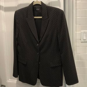 Tahari blazer brown with tiny pattern